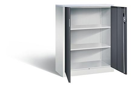 Bijzetkast met 2 legborden en afsluitbare deuren